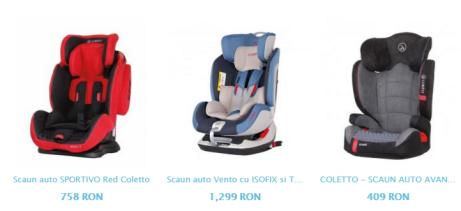 scaune auto coletto